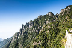 Sanqingshan mountain scenery Stock Photos
