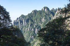 Sanqingshan mountain scenery Stock Photography