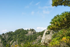 Sanqingshan mountain scenery Stock Photo