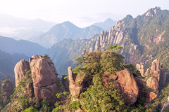 Sanqingshan Mountains Sunrise Royalty Free Stock Image