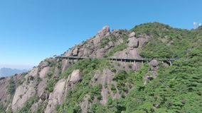 Sanqingshan Nationaal Park in Shangrao, Jiangxi-Provincie, China stock videobeelden