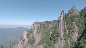 Sanqingshan nationalpark i Shangrao, Jiangxi landskap, Kina lager videofilmer
