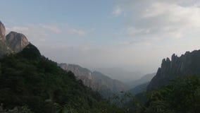Sanqingshan nationalpark i Shangrao, Jiangxi landskap, Kina stock video