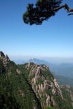 Sanqingshanbergen stock foto