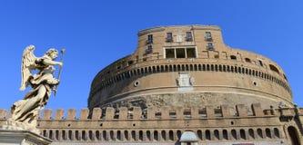 Sanr Angelo Castle, Rome, Italien arkivbild