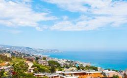 Sanremo, beroemde stad op Ligurië, Itally Stock Afbeelding