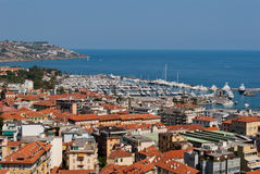 Sanremo city and harbour view. Italy Stock Images