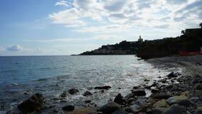 Sanremo Italien timelapse vid havet arkivfilmer