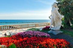 Sanremo (italienare riviera), Statua della Primavera Arkivfoto