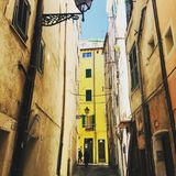 Sanremo, Italy, April 2019: an alley downtown stock photography