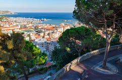 Sanremo, panorama from Giardini Regina Elena Royalty Free Stock Images