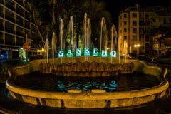 Sanremo springbrunn royaltyfri bild
