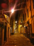 Sanremo vid natt royaltyfria bilder