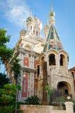Sanremo (Włochy) Rosyjski kościół zdjęcia royalty free