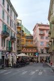 Sanremo, Włochy, Uliczny widok, Ariston Theatre zdjęcie stock