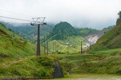 Sanroku ropeway on Kusatsu mountain Stock Photo