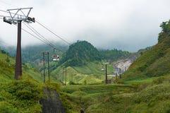 Sanroku ropeway on Kusatsu mountain Royalty Free Stock Image