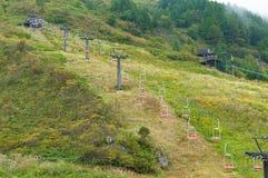 Sanroku ropeway on Kusatsu mountain Royalty Free Stock Photo