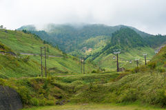 Sanroku ropeway on Kusatsu mountain Royalty Free Stock Photography