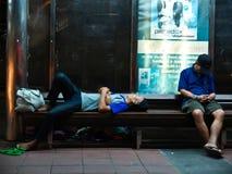 Sans-abri en Thaïlande photo libre de droits