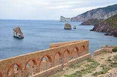 Sans antiocco в Сардинии стоковые фото