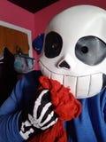 Sans cosplay的骨骼 免版税库存图片