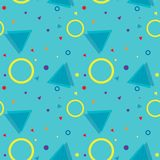 Sans couture à la mode, style de Memphis avec le modèle géométrique, vecteur IL illustration stock