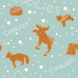 Sans couture avec des biscuits de gingembre illustration stock