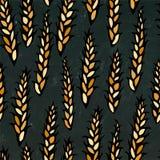 Sans couture avec le malt Modèle de bière D'isolement sur un fond noir de tableau Style réaliste de bande dessinée de griffonnage Photo stock