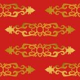 Sans couture de l'élément d'Asiatique de Gorizontal Images stock