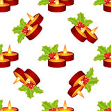 Sans couture de la bougie de Noël illustration libre de droits