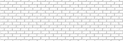 Sans couture de la brique blanche illustration libre de droits