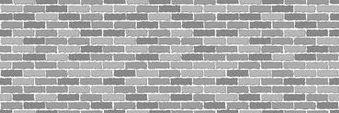 Sans couture de la brique grise illustration stock