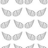 Sans couture des ailes Image libre de droits