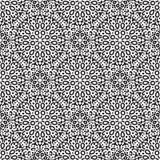 Sans couture floral circulaire noir et blanc Images libres de droits