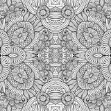Sans couture floral ethnique décoratif de vecteur abstrait Photos stock