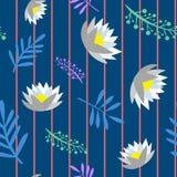 Sans couture floral illustration de vecteur d'isolement beau par modèle illustration libre de droits