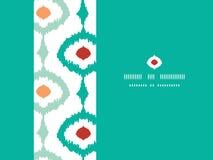 Sans couture horizontal de cadre à chaînes coloré d'ikat Image stock