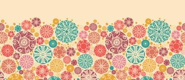 Sans couture horizontal de cercles décoratifs abstraits Images libres de droits