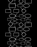 Sans couture vertical de carte d'esprit de craie de tableau noir Photographie stock libre de droits