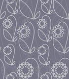 Sans joint avec les fleurs blanches illustration stock