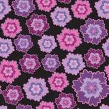 Sans joint avec les fleurs roses et lilas illustration stock