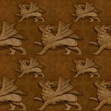 Sans joint avec les lions à ailes Photos stock