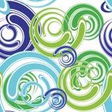 Sans joint spiralé abstrait Images libres de droits