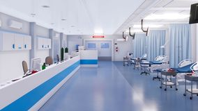 Sans l'intérieur de personnes de la chambre de secours d'hôpital clips vidéos