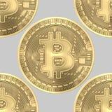 Sans problème carrelage du fond de l'or Bitcoins Photo libre de droits