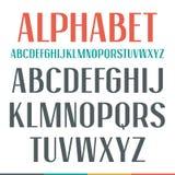 Sans Serif狭窄字体 库存例证