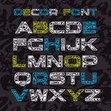 Sans serif decorative font Royalty Free Stock Photos
