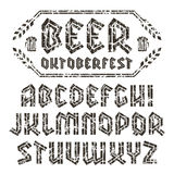 Sans serif decorative font Stock Photography