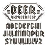 Sans serif decorative font Royalty Free Stock Image